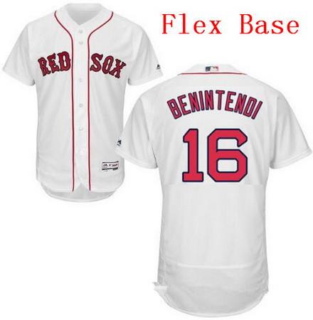 Men's Boston Red Sox #16 Andrew Benintendi White Home Stitched MLB Majestic Flex Base Jersey