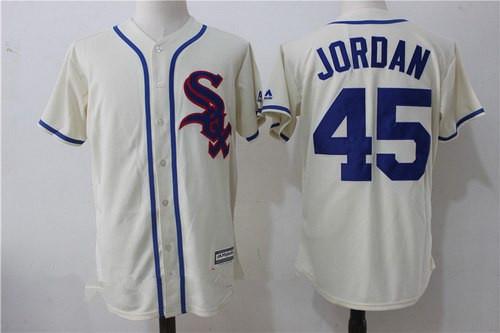 Men's Chicago White Sox #45 Michael Jordan 2017 Cream Stitched MLB Majestic Cool Base Jersey