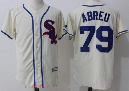 Men's Chicago White Sox #79 Jose Abreu 2017 Cream Stitched MLB Majestic Cool Base Jersey