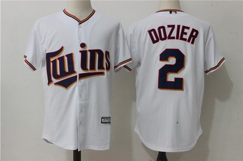 Men's Minnesota Twins #2 Brian Dozier White Home Stitched MLB Majestic Cool Base Jersey