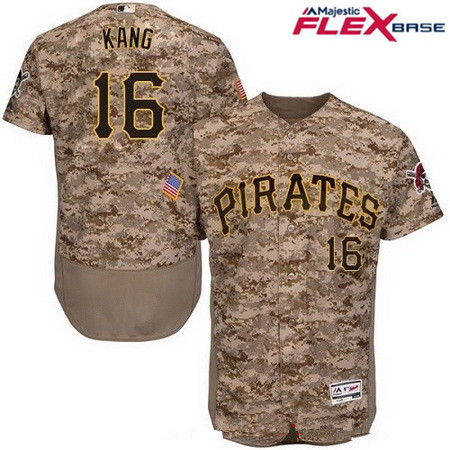 Men's Pittsburgh Pirates #16 Jung-ho Kang Camo Alternate Stitched MLB Majestic Flex Base Jersey