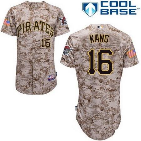 Men's Pittsburgh Pirates #16 Jung-ho Kang Camo Alternate Stitched MLB Majestic Cool Base Jersey