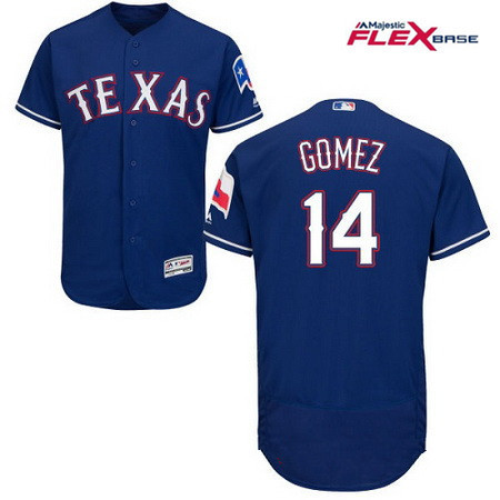 Men's Texas Rangers #14 Carlos Gomez Royal Blue Alternate Stitched MLB Majestic Flex Base Jersey