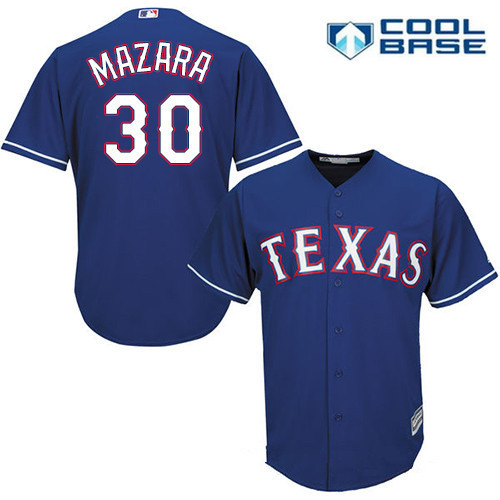 Men's Texas Rangers #30 Nomar Mazara Royal Blue Alternate Stitched MLB Majestic Cool Base Jersey