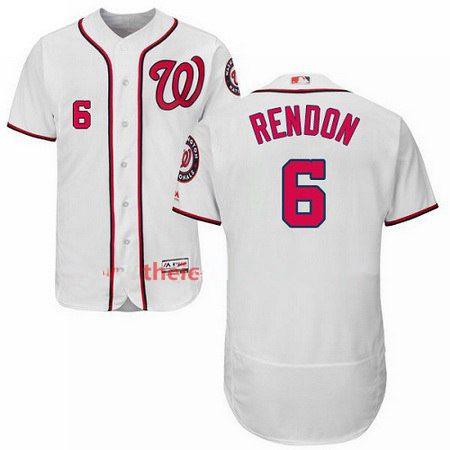 Men's Majestic Washington Nationals #6 Anthony Rendon White Flexbase Authentic Collection MLB Jersey