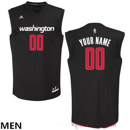 Men's Washington Wizards Custom adidas Black Fashion Basketball Jersey