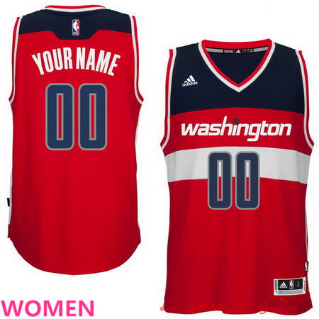 Women's Washington Wizards Red Custom adidas Swingman Road Basketball Jersey