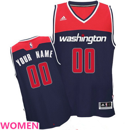 Women's Washington Wizards Navy Blue Custom adidas Swingman Alternate Basketball Jersey
