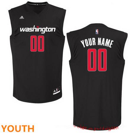 Youth Washington Wizards Custom adidas Black Fashion Basketball Jersey