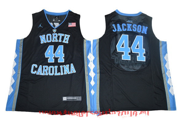 Men's North Carolina Tar Heels #44 Justin Jackson Black College Basketball 2017 Brand Jordan Swingman Stitched NCAA Jersey