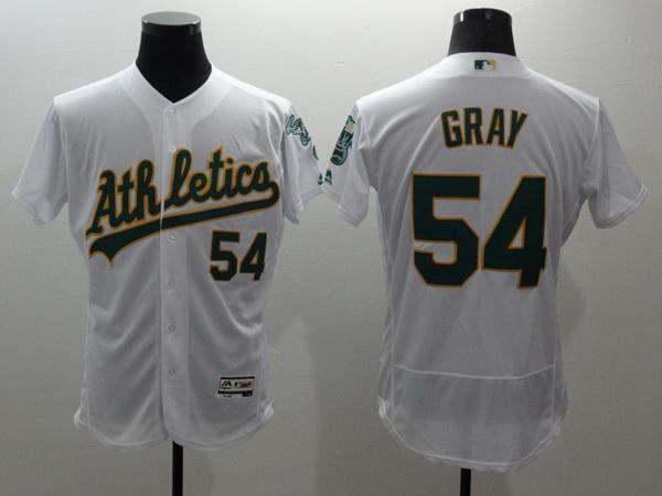 Men's Oakland Athletics #54 Sonny Gray White Flex Base 2016 MLB Player Baseball Jersey