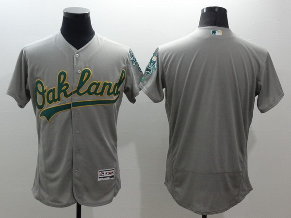 Men's Oakland Athletics Blank Gray Flex Base 2016 MLB Player Baseball Jersey