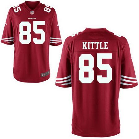 Men's 2017 NFL Draft San Francisco 49ers #85 George Kittle Scarlet Red Team Color Stitched NFL Nike Game Jersey