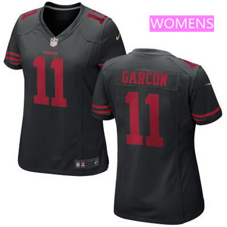 Women's San Francisco 49ers #11 Marquise Goodwin Black Alternate Stitched NFL Nike Game Jersey