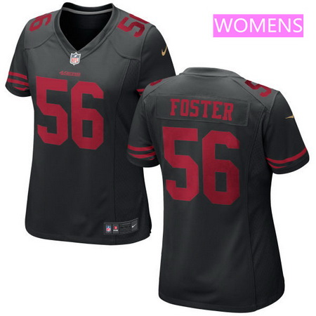 Women's 2017 NFL Draft San Francisco 49ers #56 Reuben Foster Black Alternate Stitched NFL Nike Game Jersey