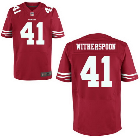 Men's 2017 NFL Draft San Francisco 49ers #41 Ahkello Witherspoon Scarlet Red Team Color Stitched NFL Nike Elite Jersey