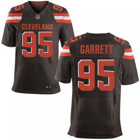 Men's 2017 NFL Draft Cleveland Browns #95 Myles Garrett Brown Team Color Stitched NFL Nike Elite Jersey