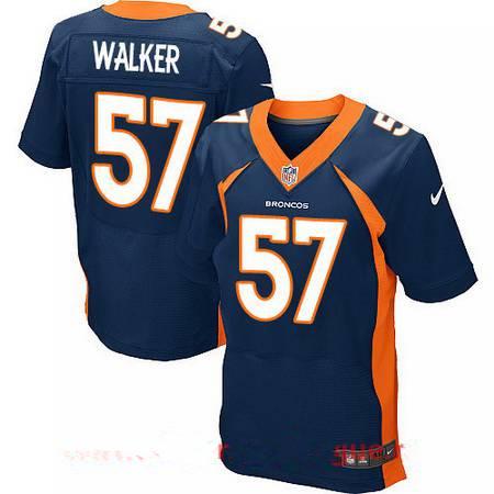 Men's 2017 NFL Draft Denver Broncos #57 DeMarcus Walker Navy Blue Alternate Stitched NFL Nike Elite Jersey