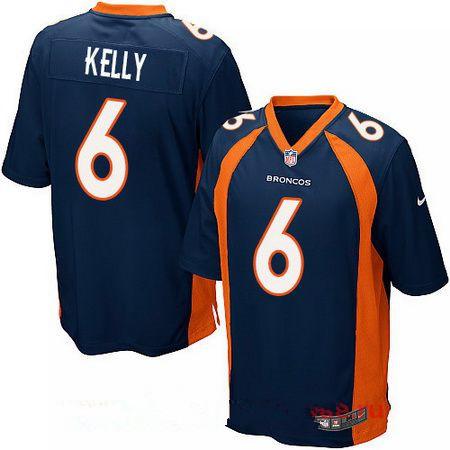 Men's 2017 NFL Draft Denver Broncos #6 Chad Kelly Navy Blue Alternate Stitched NFL Nike Elite Jersey