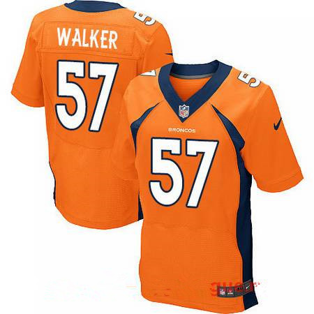 Men's 2017 NFL Draft Denver Broncos #57 DeMarcus Walker Orange Team Color Stitched NFL Nike Elite Jersey