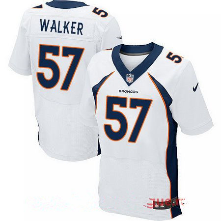 Men's 2017 NFL Draft Denver Broncos #57 DeMarcus Walker White Road Stitched NFL Nike Elite Jersey