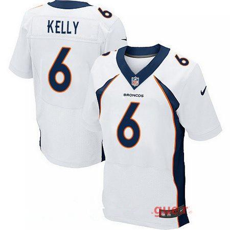 Men's 2017 NFL Draft Denver Broncos #6 Chad Kelly White Road Stitched NFL Nike Elite Jersey