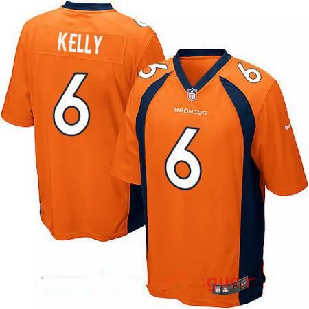 Men's 2017 NFL Draft Denver Broncos #6 Chad Kelly Orange Team Color Stitched NFL Nike Elite Jersey