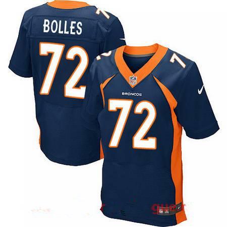 Men's 2017 NFL Draft Denver Broncos #72 Garett Bolles Navy Blue Alternate Stitched NFL Nike Elite Jersey