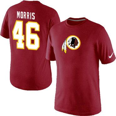 Nike Washington Redskins 46 Alfred Morris Name & Number T-Shirt Red
