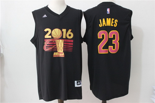 Men's Cleveland Cavaliers LeBron James #23 adidas Black 2017 NBA Finals Patch Champions Stitched Jersey