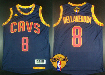 Men's Cleveland Cavaliers #8 Matthew Dellavedova 2017 The NBA Finals Patch Navy Blue Jersey