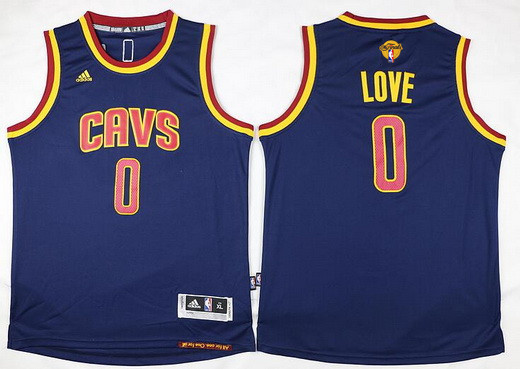 Youth Cleveland Cavaliers #0 Kevin Love Navy Blue 2017 The NBA Finals Patch Jersey