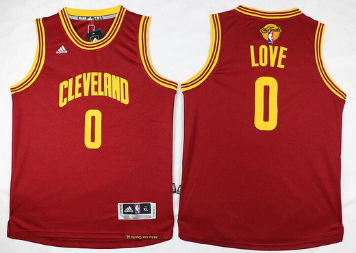 Youth Cleveland Cavaliers #0 Kevin Love Red 2017 The NBA Finals Patch Jersey