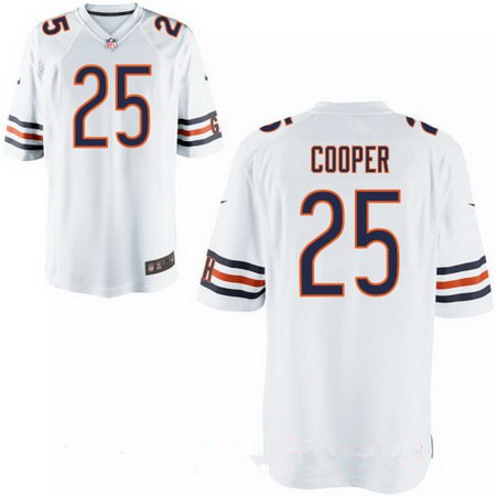 Men's Chicago Bears #25 Marcus Cooper White Road Stitched NFL Nike Elite Jersey