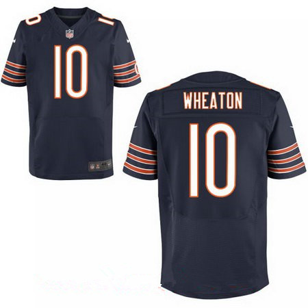 Men's Chicago Bears #10 Markus Wheaton Navy Blue Team Color Stitched NFL Nike Elite Jersey