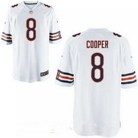 Men's Chicago Bears #8 Mike Glennon White Road Stitched NFL Nike Elite Jersey