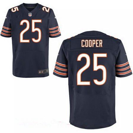 Men's Chicago Bears #25 Marcus Cooper Navy Blue Team Color Stitched NFL Nike Elite Jersey