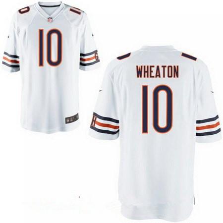 Men's Chicago Bears #10 Markus Wheaton White Road Stitched NFL Nike Elite Jersey