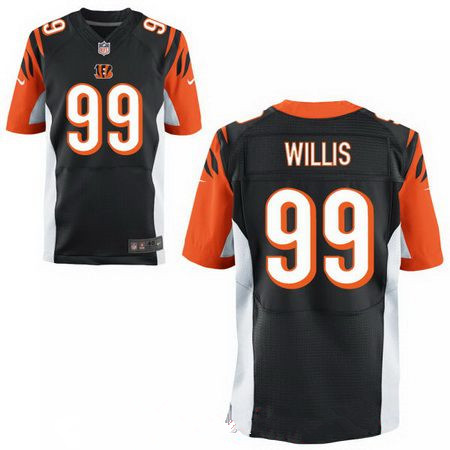 Men's 2017 NFL Draft Cincinnati Bengals #99 Jordan Willis Black Alternate Stitched NFL Nike Elite Jersey