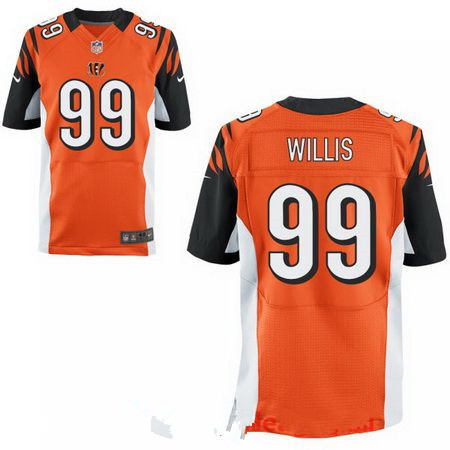Men's 2017 NFL Draft Cincinnati Bengals #99 Jordan Willis Orange Team Color Stitched NFL Nike Elite Jersey