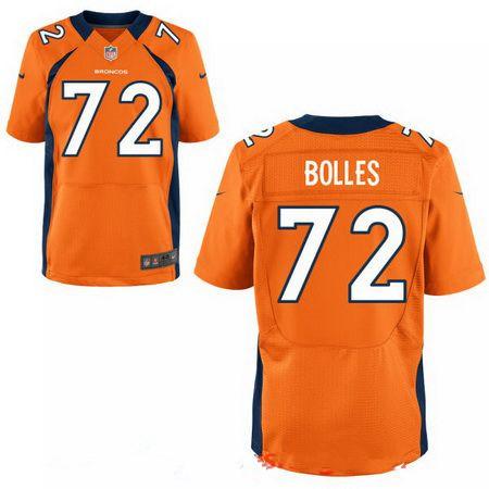 Men's 2017 NFL Draft Denver Broncos #72 Garett Bolles Orange Team Color Stitched NFL Nike Elite Jersey