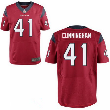 Men's 2017 NFL Draft Houston Texans #41 Zach Cunningham Red Team Color Stitched NFL Nike Elite Jersey