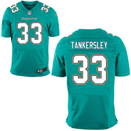 Men's 2017 NFL Draft Miami Dolphins #33 Cordrea Tankersley Green Team Color Stitched NFL Nike Elite Jersey