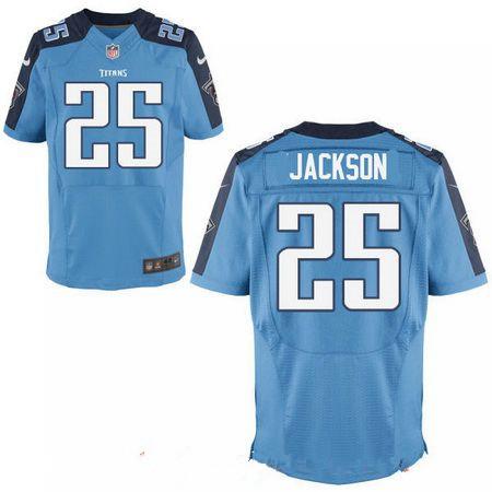 Men's 2017 NFL Draft Tennessee Titans #25 Adoree Jackson Light Blue Team Color Stitched NFL Nike Elite Jersey