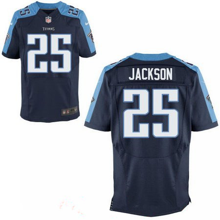 Men's 2017 NFL Draft Tennessee Titans #25 Adoree Jackson Navy Blue Alternate Stitched NFL Nike Elite Jersey