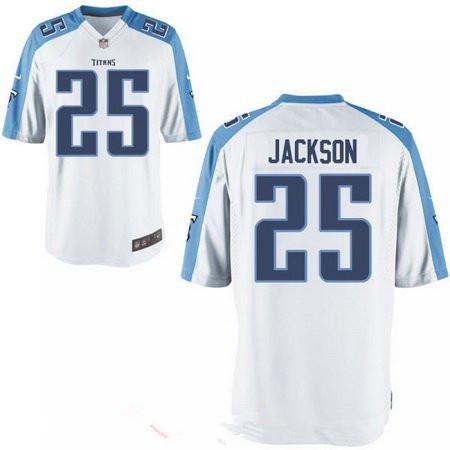 Men's 2017 NFL Draft Tennessee Titans #25 Adoree Jackson White Road Stitched NFL Nike Elite Jersey