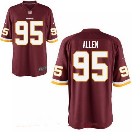 Men's 2017 NFL Draft Washington Redskins #95 Jonathan Allen Burgundy Red Team Color Stitched NFL Nike Elite Jersey