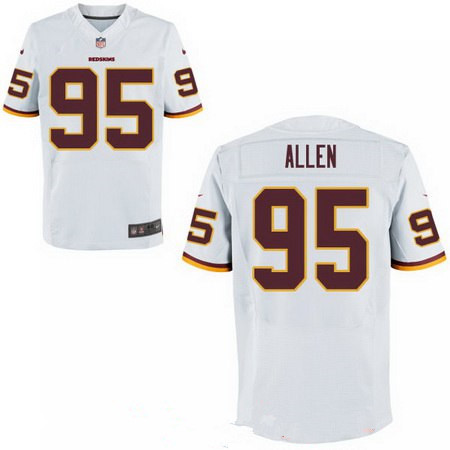 Men's 2017 NFL Draft Washington Redskins #95 Jonathan Allen Burgundy White Team Color Stitched NFL Nike Elite Jersey