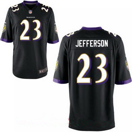 Men's Baltimore Ravens #23 Tony Jefferson Black Alternate Stitched NFL Nike Elite Jersey