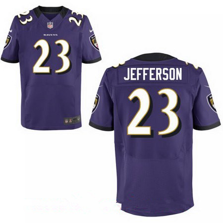 Men's Baltimore Ravens #23 Tony Jefferson Purple Team Color Stitched NFL Nike Elite Jersey
